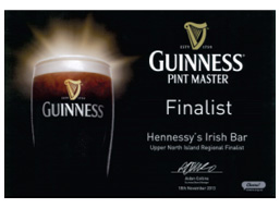 Guiness Pint Master Finalist